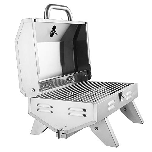 Stainless Steel Oven Gas Oven Single Row Square Small Oven Portable Propane Bbq Gas Grill 12,000 Btu with Support Legs Grills Propane