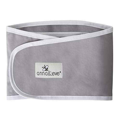 Anna amp Eve  Baby Swaddle Strap Adjustable Arms Only Wrap for Safe Sleeping  Large Size Fits Chest 16 to 205 Grey
