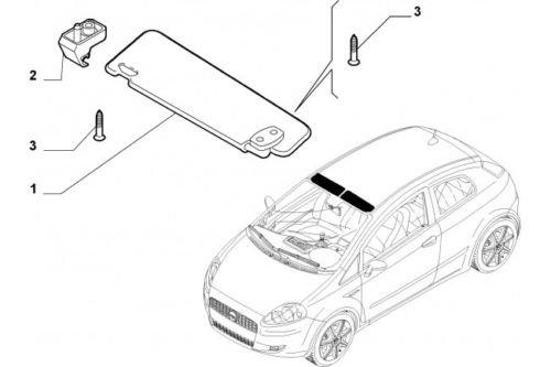 Haken Halterung Kit Sonnenblende Fiat Grande Punto 2005> 735411088