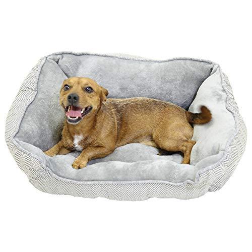 Bentley Grau Plüsch-weiche Pelz waschbare Hundekatze-Haustier Bed- Kleine