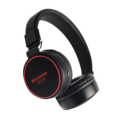 Wisenovo - Auriculares inalámbricos, Bluetooth V5.0 + EDR, con micrófono y Sonido estéreo, Plegables, Soporte para Llamadas con Manos Libres, Radio FM/Tarjeta TF/función de Auriculares inalámb