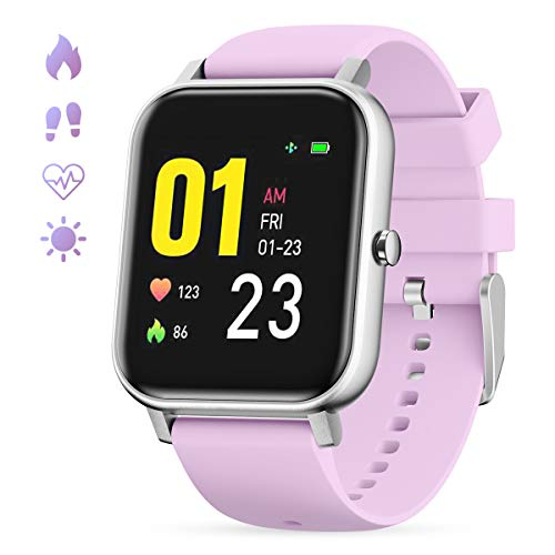 GOKOO Smart Watch for Womens Blood Pressure Sleep and All-Day Heart Rate Monitor Full Touch Sport Activity Tracker Waterproof Smart watches for women Phones Camera Music Remote Control Weather Calorie