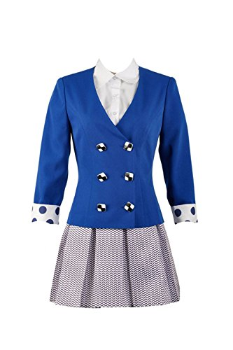 Heathers The Musical Rock Musical Veronica Sawyer Stage School Dress(Female X-Large) Blue