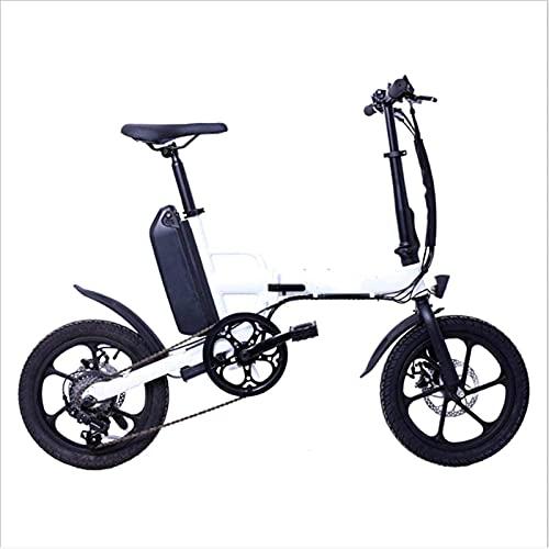 Bicicleta Eléctrica Plegable para Adultos, Mini Bicicleta Eléctrica con Batería De Litio De 36 V 13 Ah Que Aumenta Las Bicicletas Eléctricas Cambio De 6 Velocidades Freno De Disco Doble Unisex (Color