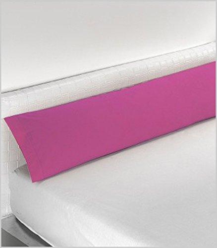 Miracle Home Housse de coussin douce et confortable en coton 50 % polyester Fuchsia 135 cm
