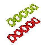 inherited 2 pcs Estante para Botellas Silicona, Soporte Botellas Nevera, Botella y Puede facilmente Stacker gabinete de Cocina y Nevera Storage Rack.Rojo y Verde(30.8 * 9.5 * 0.5cm)