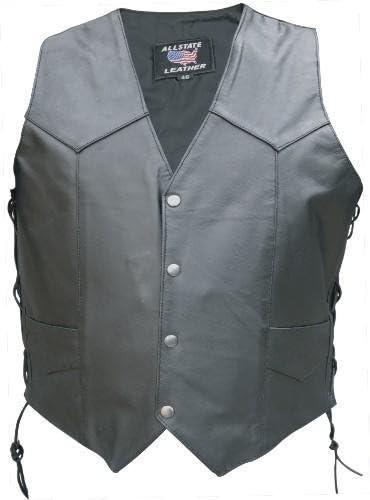 Men's Side Lace Vest w/ Leather Lined Gun Pockets