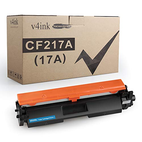 V4INK Compatible Toner Cartridge Replacement for HP 17A CF217A 217A Toner with chip Black Ink for use in HP Laserjet Pro MFP M130fw M130nw M130fn M130a M102w M102a M130 M102 Printer