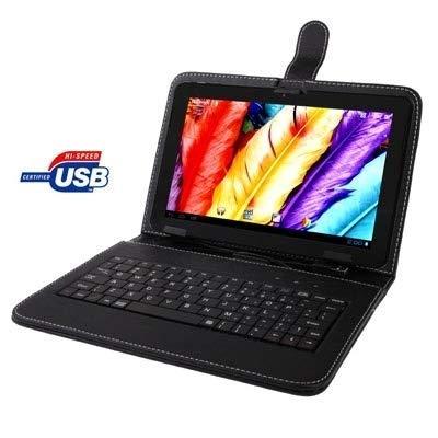 Zjcpow Funda de Piel for el Teclado con 7,0 Pulgadas Tablet PC...