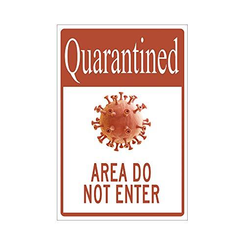 Cartello in metallo sano e sicuro, con area in quarantena non entrare, per affari, ristoranti, bar, ufficio, casa -CSDD77