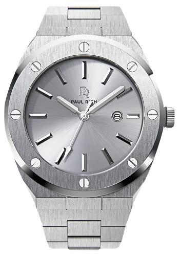 Paul Rich Signature Apollo's Silver Staal PR68ASS horloge 45 mm