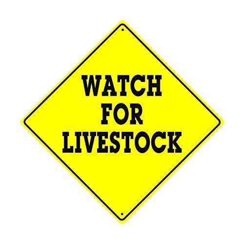 Monsety Retro-Metallschilder mit Uhr für Tiere, Bauernhof, Ranch Crossing Caution Xing Jäger, lustiges Blechschild, Geschenk für Zuhause, Straße, Garage, Türdekoration