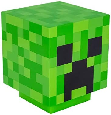 Paladone Minecraft Light BDP with Creeper Sounds Powered by 2X AAA Batteries, Gree, Green, 11cm [Energy Class A+]
