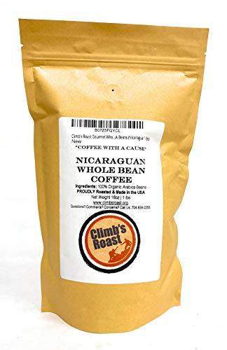 Climb's Roast Gourmet Whole Roasted Coffee Beans, 1 Pound, Nicaragua