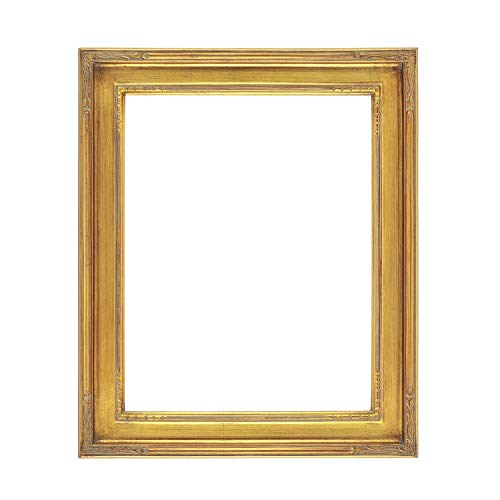 Creative Mark Plein Air Museum Collection Nouveau Picture Frame Solid Wood Composition Hand-Leafed Museum Quality Closed Corner Readymade Size - Gold 9x12