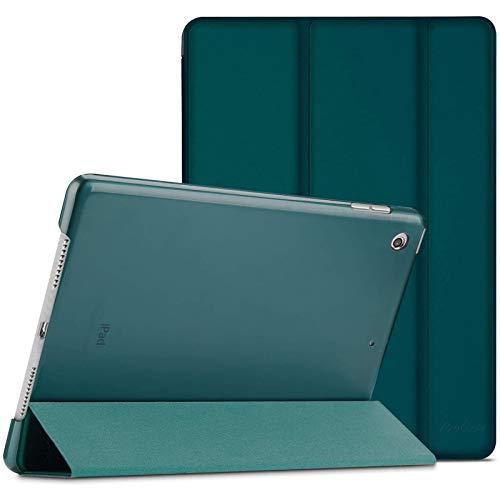 ProHülle Hülle für iPad 10.2 Zoll 2020 8th Gen/2019 7th Gen, Dreifach Falt Klapp Schutzhülle Hülle, Ultra Dünn Leicht Smart Cover mit Translucent Frosted Rück –Emerald