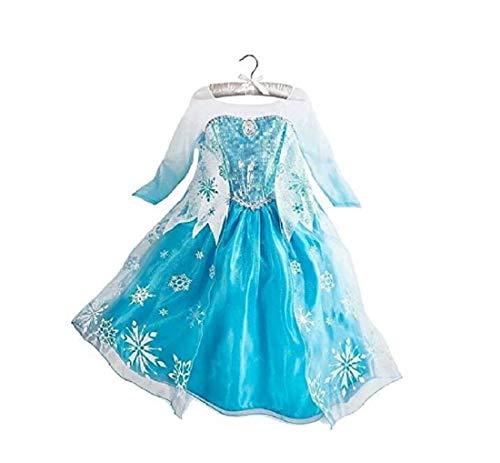 DaHeng Girls Princess Elsa Fancy Dress Costume (2-3years)