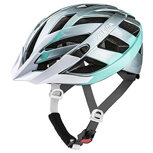 ALPINA PANOMA 2.0 Fahrradhelm, Unisex– Erwachsene, steelgrey-smaragd, 52-57