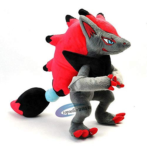 nanyin Takara Tomy Pokemon Plush Doll Toys 33Cm, Zoroark PP Algodón Animal De Peluche Niños