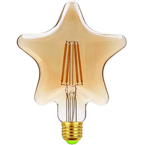 TIANFAN LED-Lampen Vintage Glühbirne 4W LED-Filament Edison-Lampe Spezial dekorative Glühbirne 220 / 240V E27 (Star)
