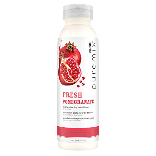 RUSK PUREMIX FRESH POMEGRANATE Color Protecting Conditioner for All Hair Types, 12 oz.