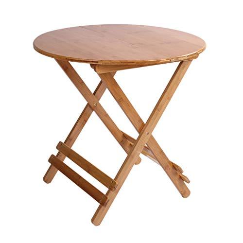 YShop Table Pliante Ronde en Bambou, Table Pliante for Pique-Nique Portable, Table à Cartes, Plateau de Repas, for Bureau d'ordinateur Portable à la Maison (Size : 70cm)