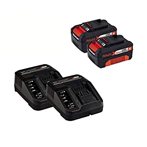 Einhell Akku-Rasenmäher GE-CM 36 Li Kit Power X-Change (Li-Ion, 36 V, bis 350 m², 36 cm Schnittbreite, 6-stufige zentrale Schnitthöhenverstellung, inkl. 2 x 3,0 Ah-Akku und 2 x Ladegerät)
