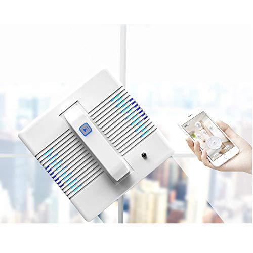 MYLEDI Smart Fensterputzroboter Profi Automatischer Fensterputzer Silent Fensterreinigungsroboter mit Fernbedienung und App-Steuerung für Draußen und Drinnen, Weiß