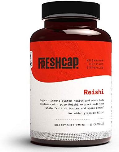 FreshCap Organic Reishi Mushroom Supplement for Healthy Aging Sleep and Immunity 120 Capsules product image