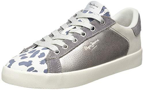 Pepe Jeans London Damen KIOTO Kenia Sneaker, Weiß (White 800), 40 EU