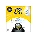 Purina Tidy Cats Litière agglomérante légère 4 en 1 sans poussière pour chat 7,7 kg