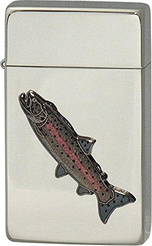 SAROME(サロメ) ガス ライター SRM 釣り 魚 シリーズ イトウ シルバー 700124
