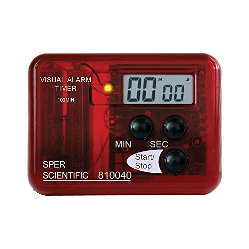 Sper Scientific Compact Visual and Audible Alarm Timer (810040)