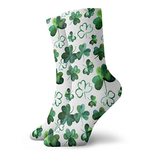 Colin-Design Kleeblatt-Glückssocken, Sportsocken, athletische Strümpfe, 30 cm, Crew-Socken für Männer & Frauen