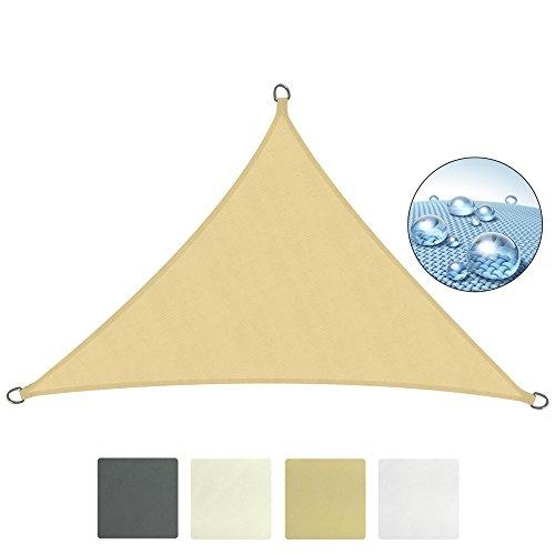 Sol Royal Tenda a Vela SolVision - 5x5x7m Sabbia - Parasole Impermeabile per Esterno Protezione Pioggia e Raggi UV