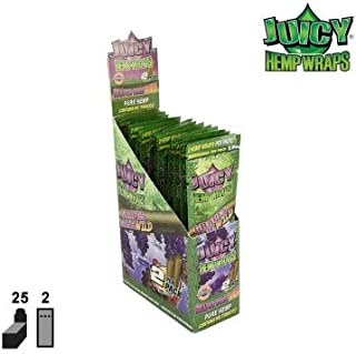 JUICY JAY'S HEMP WRAPS GRAPES GONE WILD FLAVOR PACK OF 25