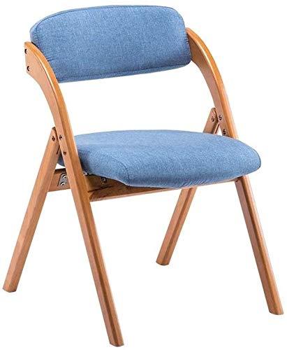 Sedie sala da pranzo sedia in legno massello pieghevole Sedia da pranzo casa Dining Chair Conferenza sedia pieghevole schienale sedia dell'ufficio Tessuto Lounge Chair Study Chair