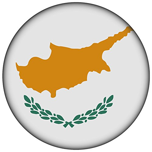 FanShirts4u Button/Badge/Pin - I Love ZYPERN Fahne Flagge CYPRUS (Zypern/Flagge)