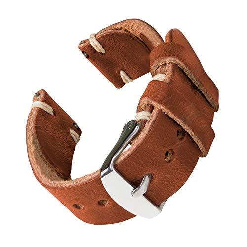 Archer Watch Straps - Correas de Reloj Hechas a Mano de Piel de Horween con Recambio de Liberación Rápida para Hombre y Mujer, para Relojes y Smartwatch, 18mm, 20mm, 22mm