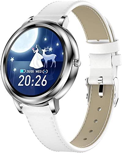 Pulsera de fitness para mujer con monitor de ritmo cardíaco impermeable IP67 fitness tracker reloj podómetro cronómetro reloj inteligente para Los Android-correa de acero dorado