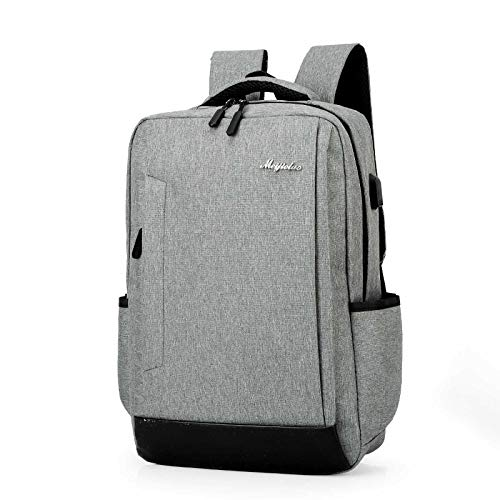 UKKO Travel Laptop Backpack, Work Bag Lightweight Backpack Mens for Girls/Boys Teenage Teens Rucksack Water Resistant School Bags gray