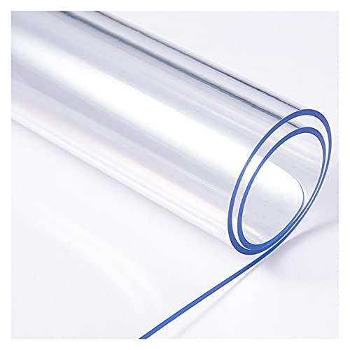 WJDY Protector Mesa Transparente, Antideslizante Mantel PVC Transparente, Estera De Mesa De Cocina De 1,5mm/2mm/3mm, Se Puede Personalizar (Color : Clear-3mm, Size : 60x120cm)