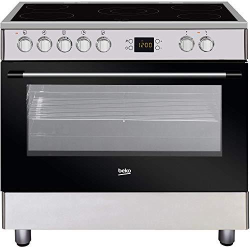 Cocina eléctrica Vitro 90 cm, 5 placas, horno Multi 7*, horno 112L, B Beko