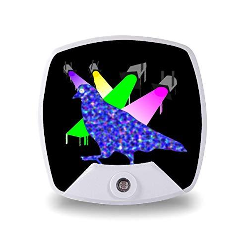 Palomas jugando ping pong ojos de luna, luz nocturna para niños, adultos, lámpara de cabecera, lámpara LED, regalo personalizado para dormitorio/oficina/pasillos