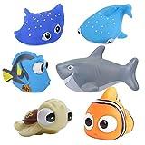 Buscando a Dory Nemo juguetes de baño para bebés y niños pequeños, ducha y natación, 6 unidades