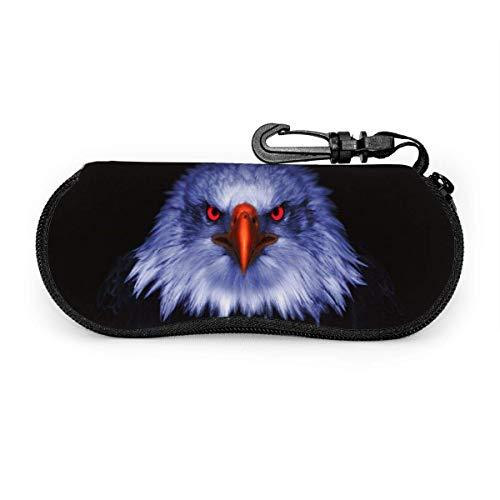 sherry-shop Eagle Eyes Sonnenbrille Soft Case mit Gürtelclip, leichte weiche Schutzbrille aus Neopren mit Reißverschluss, 17 cm × 8 cm