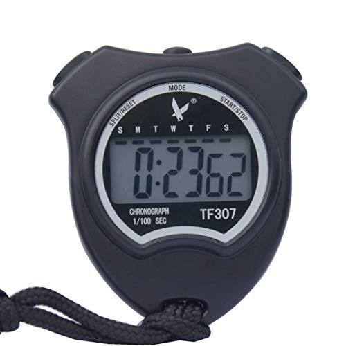 WMYATING Operación precisa de una tecla, Pantalla Grande cl Digital Professional Handheld Cronograph Sportwatch Temporizador Temporizar Soporte Reloj Pista de Deportes