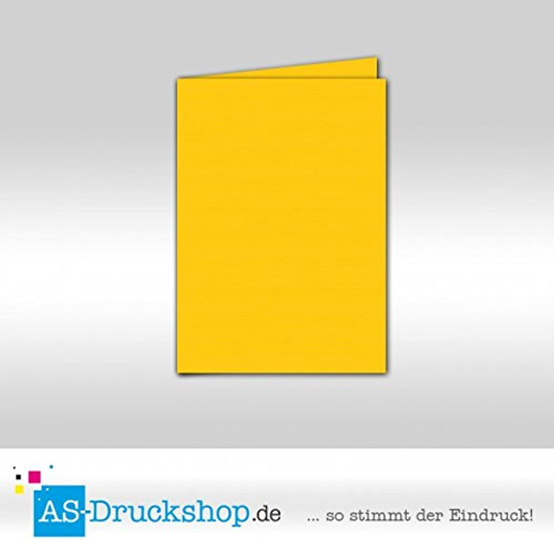Faltkarte Doppelkarte - Soleilgelb 100 Stück DIN A6 B0794Y68D9     Lebhaft und liebenswert