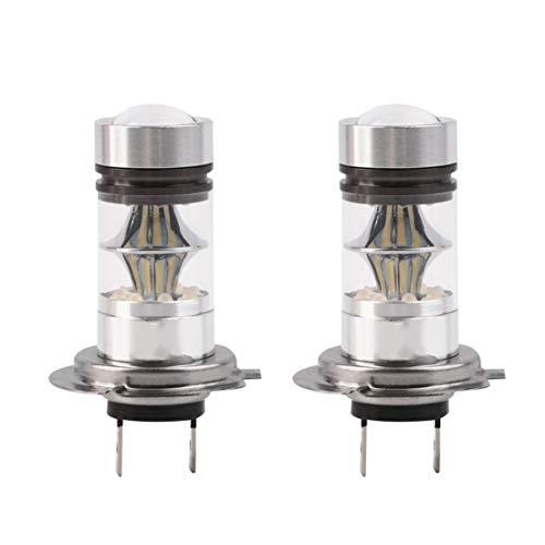 BiaBai 2 uds H7 100W 12V LED de alta potencia estilo de coche faro automático DRL luces antiniebla lámparas LED para coches bombillas de proyector HID 6000K