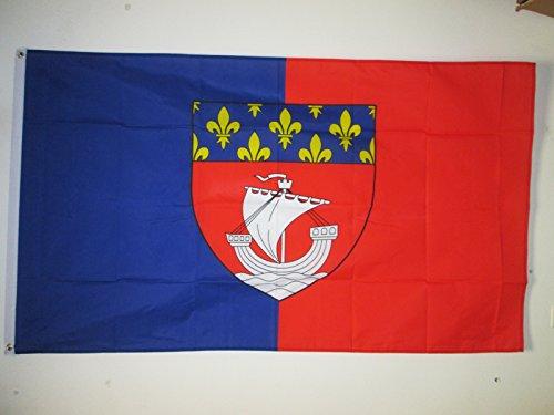 AZ FLAG Flagge DÉPARTEMENT Paris 150x90cm - Paris Fahne 90 x 150 cm - flaggen Top Qualität